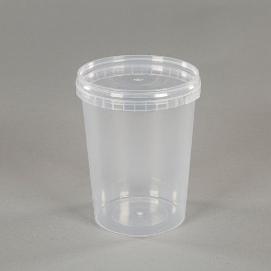 500ml Clear Plastic Food Grade Container With Lid