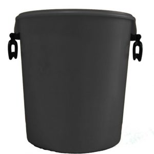 25 litre black container with handles and lid