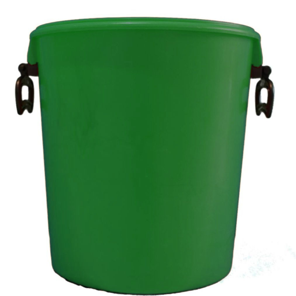 25L Green Bucket With Two Handles And Lid