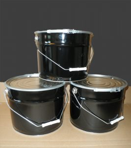 10l Metal Pails with Lids