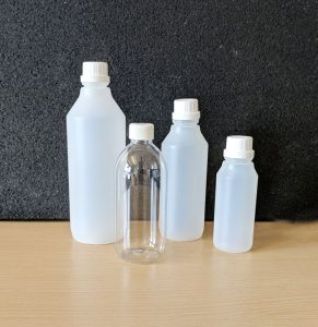 A photograph of our plastic bottles range.