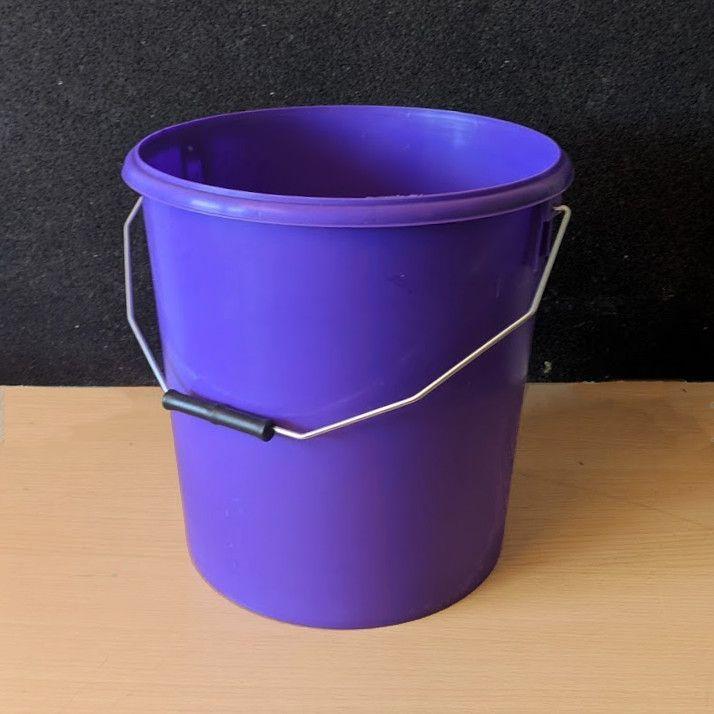 16L Purple Plastic Buckets With Lid