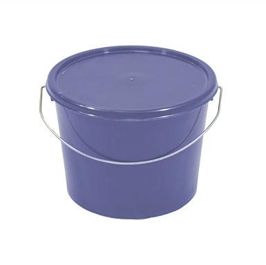 5L Blue Plastic Bucket with Standard Lid