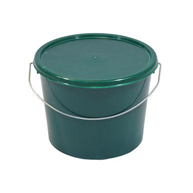 5L Green Plastic Bucket with Standard Lid