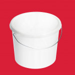 5l white plastic bucket with standard lid