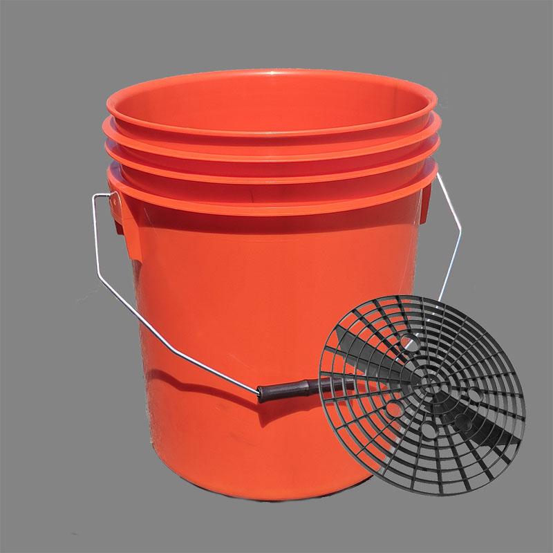 16l heavy duty car wash bucket with grit shield
