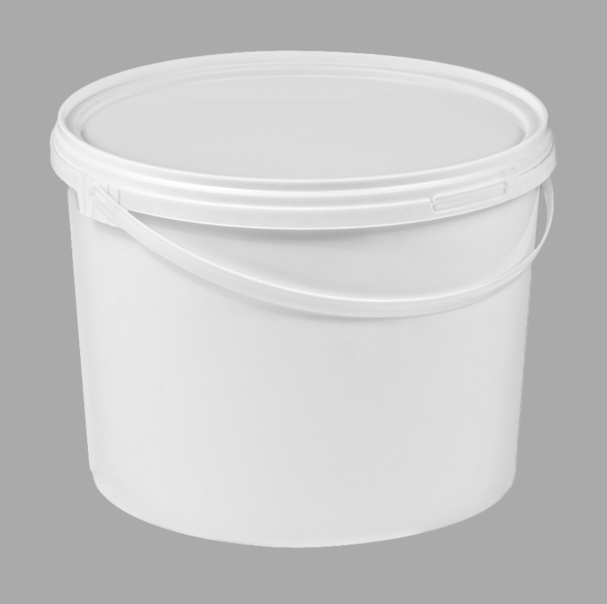 10L Tamper Evident Lightweight White Food Buckets With Lid