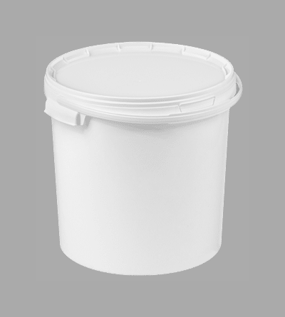 20L White Lightweight Plastic Food Buckets With Lids