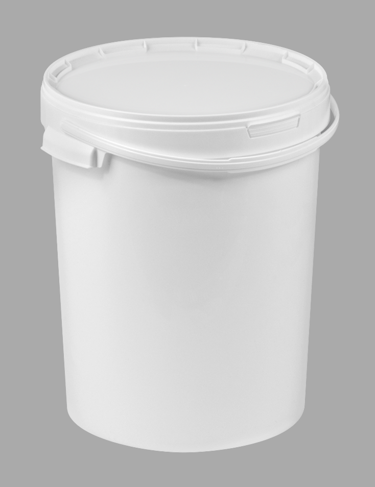 25l White Food Safe Plastic Bucket with plastic handles and lid fda05d23519