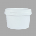 500ml White Round Plastic Pot