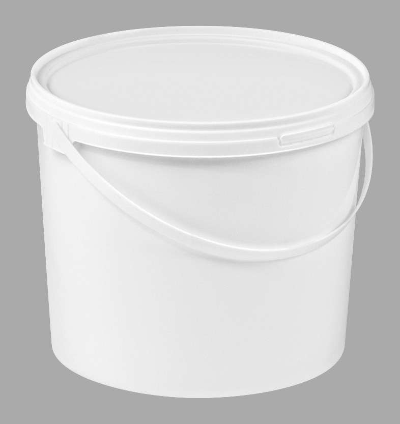 5L White Plastic Lightweight Food Buckets With Lid
