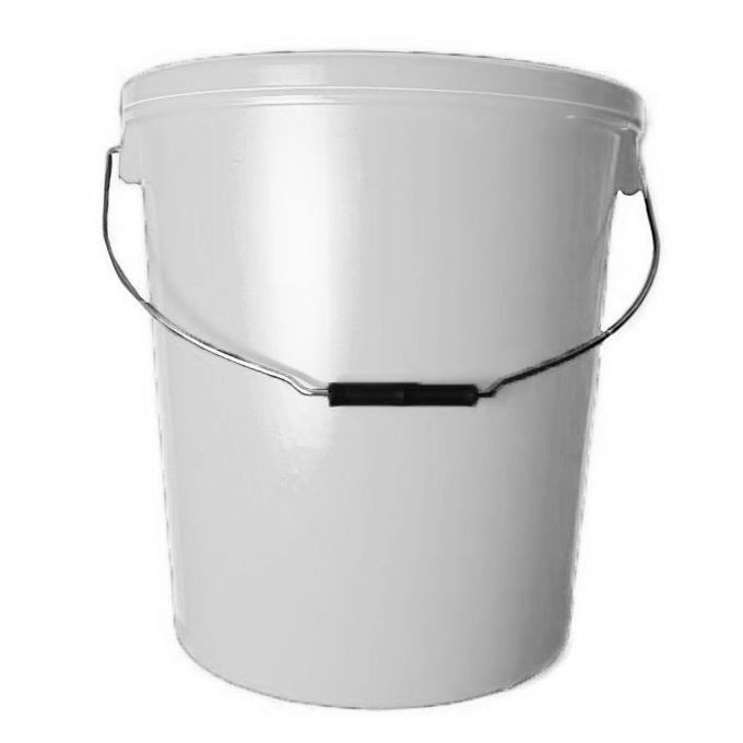 25L White Plastic Buckets With Standard Lid