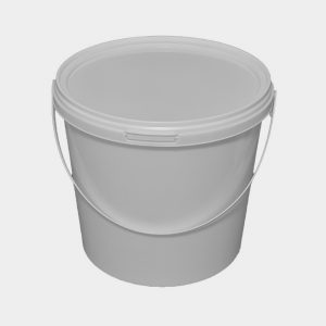 25L White Bucket with Tamper Evident lid and plastic handles
