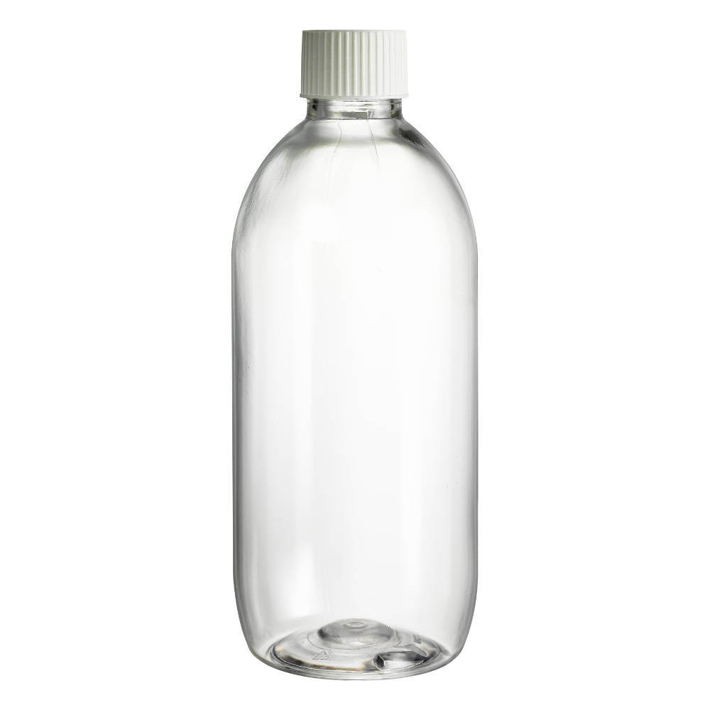 150ml Tall Clear PET Boston Bottle and Cap