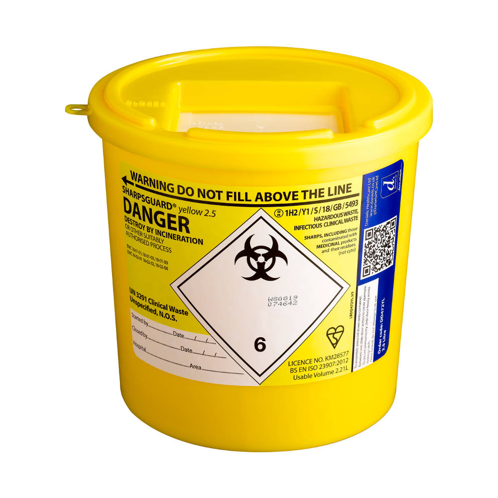 2.5 litre sharps container