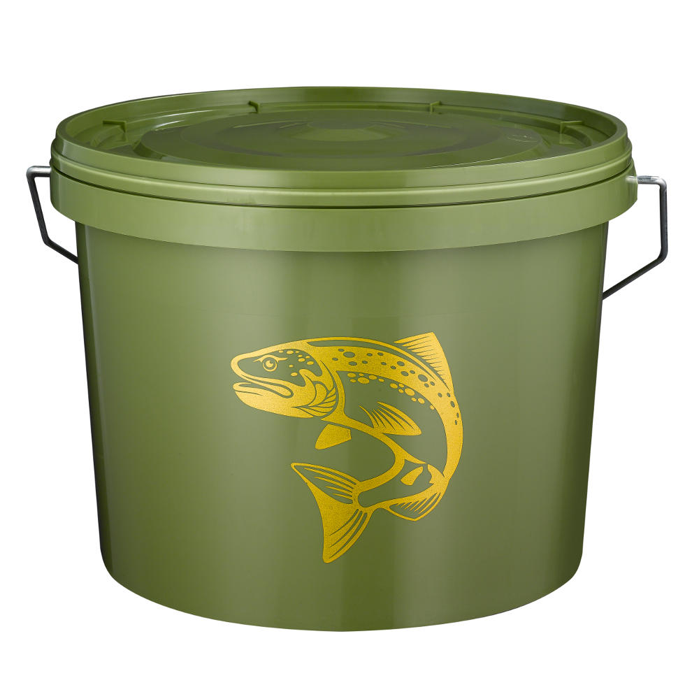 10L Green Fishing Bait Bucket with lid