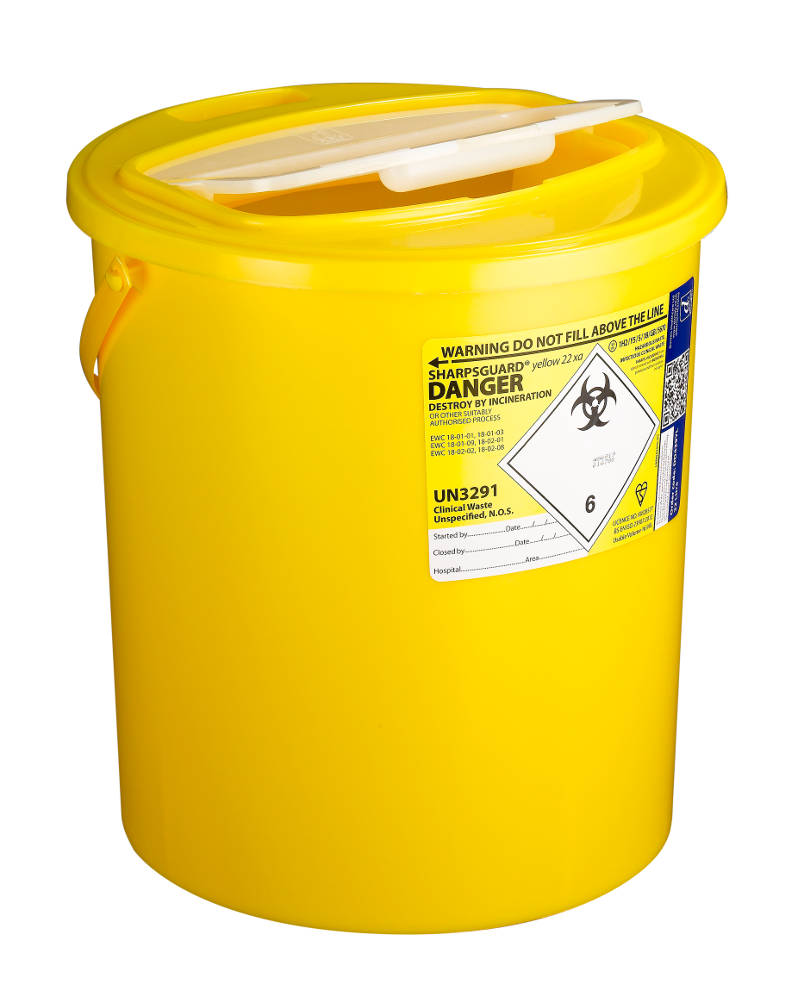 22 litre sharps container