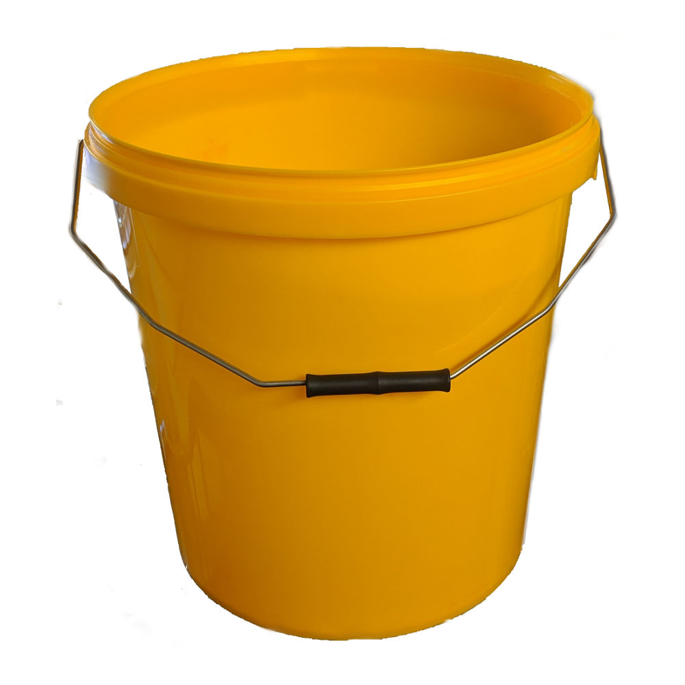 20L Yellow Plastic Buckets With Lid