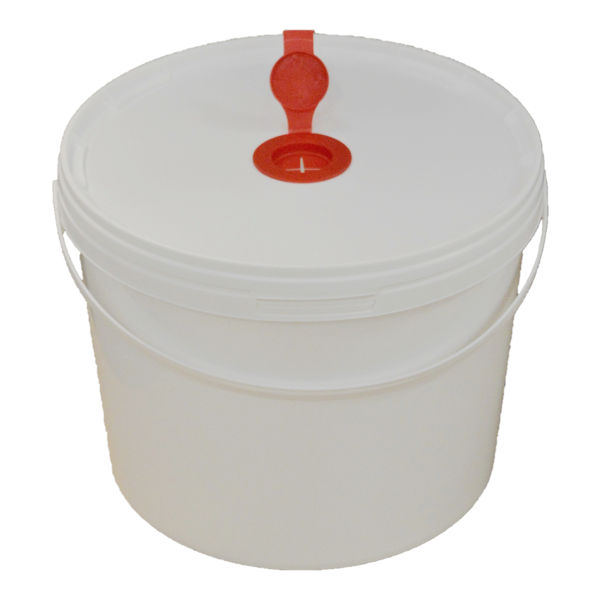 10L White Plastic Wet Wipe Container