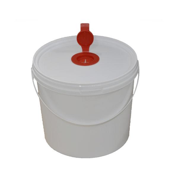 5L White Plastic Wet Wipe Container