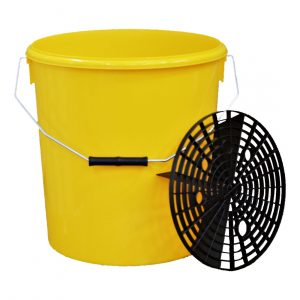 Yellow Grit Guard Bucket